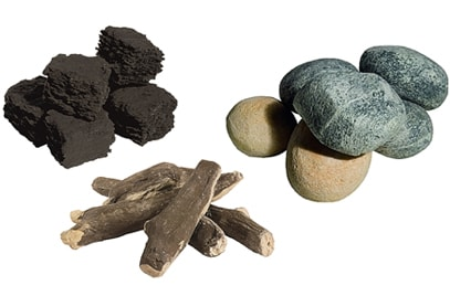 Gas Fire Coals, Pebbles & Logs