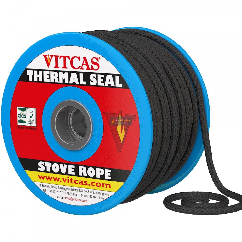 Door Soft Black Rope Seal Kit 3 metre Pack 10mm to Suit Aarrow Stove