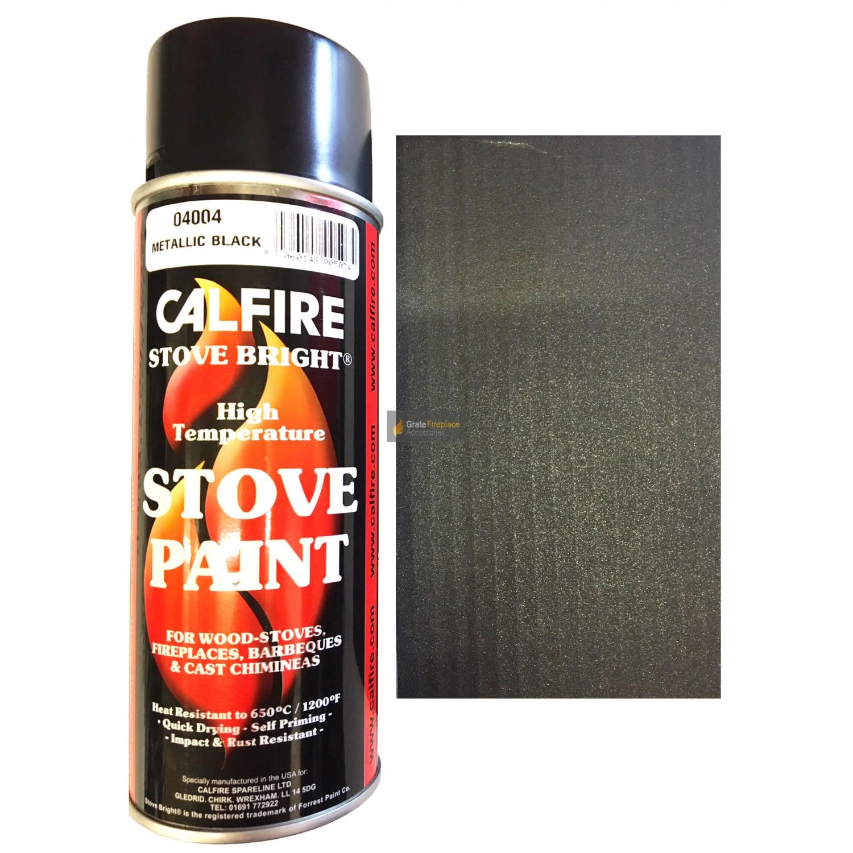 Stovebright High Temperature Paint 6309 400ml Aerosol Metallic Black