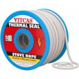 Woodburner Stove Rope Seal - Heat Resistant Fire Rope - 6mm to 25mm (Price per Metre) width=