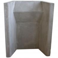 "16"" Heat Resistant Concrete Fireback"