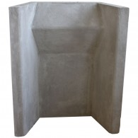 "18"" Heat Resistant Concrete Fireback"