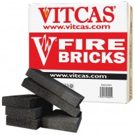 Vitcas 6 Fire Bricks Replacement Box - Black (230x114x32mm)