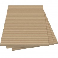 Vermiculite Reeded Fire Board (800mm x 600mm x 25mm)