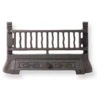 20.5'' Art Nouveau Cast Iron Fire Front - Black
