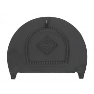 Solid Fuel Damper for 16'' Arched Insert - Cast Iron