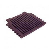 16 Inch Grant Triple Pass Fire Grate Flat - Cast Iron