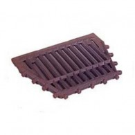 16 Inch Lofire Drop Front Fire Grate Flat - Cast Iron