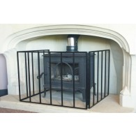 Custom Size Heavy Stove Guard Fire Screen - The Noble Collection - Black