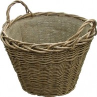 Wild Willow Log Basket With Hessian Lining - Wild Willow