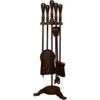 24'' Traditional Top 3 Legged Base Companion Set - Black