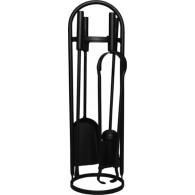 23'' Modern Round Companion Set - Black