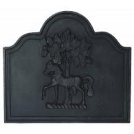 Horse Chestnut Cast Iron Fire Back 30'' wide - Cast Iron