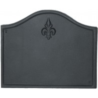 Plain Fleur de Lys Cast Iron Fire Back 23'' wide - Cast Iron