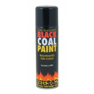 Matt Black Coal Paint for Gas Fires, High Temperature Paint (300ml)