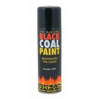 Matt Black Coal Paint for Gas Fires, High Temperature Paint (300ml)