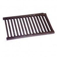 Large Castle Dog Basket Fire Grate Flat - Cast Iron
