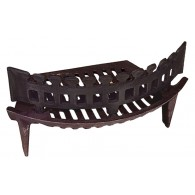 16 Inch 24B Fire Grate 4 Legs (Inc Up Stand) - Cast Iron
