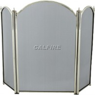 29.5'' 3 Fold Fire Screen - Antique Plated