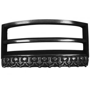 Regal Arch Cast Iron Fire Fret - Polished - Polished