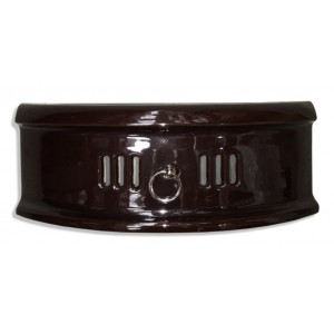"""16"""" N Type Solid Fuel Fire Fret - Majolica Brown"""