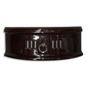 """18"""" N Type Solid Fuel Fire Fret - Majolica Brown"""