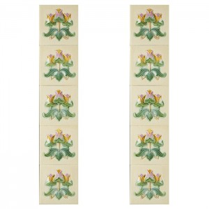 Set(10) Terreno Green/Ivory Embossed