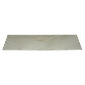 Plate 22x6 Backed - Stainless Steel