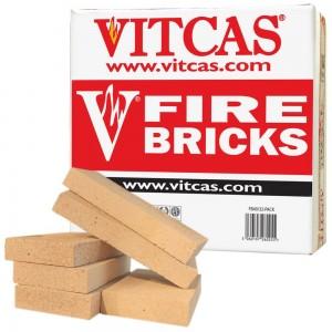 Vitcas 6 Fire Bricks Replacement Box - Clay (230x114x32mm)