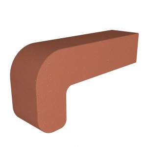 Vitcas Fire Brick Curved - Red (220mm x 100mm x 55mm)