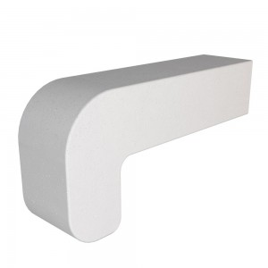 Vitcas Fire Brick Curved - White (220mm x 100mm x 55mm)