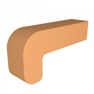 Vitcas Fire Brick Curved - Yellow (220mm x 100mm x 55mm)