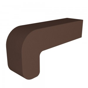 Vitcas Fire Brick Curved - Brown (220mm x 100mm x 55mm)