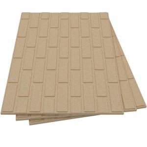 Vermiculite Brick Effect Fire Board (800mm x 600mm x 25mm)