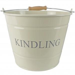 Small Kindling Bucket - Cream #LAST STOCK