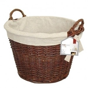 20'' Round Wicker Basket with Jute Liner
