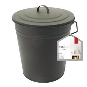 12'' Metal Coal Tub - Black