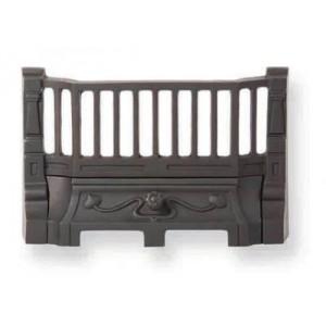 14'' Art Nouveau Cast Iron Fire Front - Black