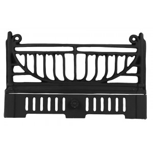 18'' Period Cast Iron Fire Front (Hook on) - Black