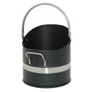 Warwick Coal Bucket - Black & Pewter