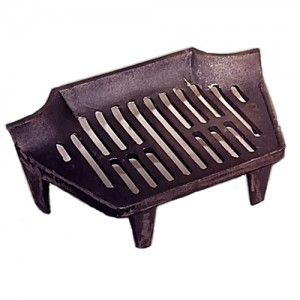 16 Inch Classic Stool Fire Grate 4 Legs - Cast Iron