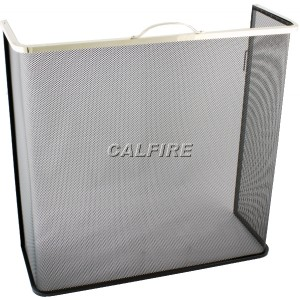 24'' Box Open Fire Screen - The Noble Collection - Brass Trim