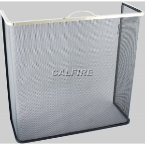 Custom Size Box Open Fire Screen - The Noble Collection - Brass Trim
