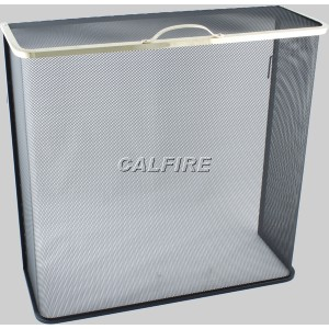 Custom Size Box Closed Fire Screen - The Noble Collection - Brass Trim