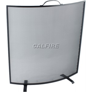 Custom Size Curved Fire Screen - The Noble Collection - Black