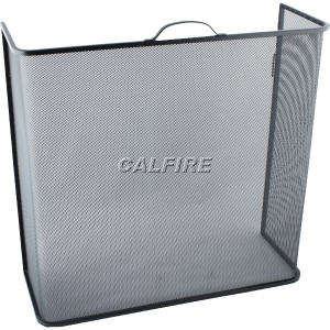 Custom Size Box Open Fire Screen - The Noble Collection - Black