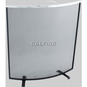 Custom Size Curved Fire Screen - The Noble Collection - Aluminium Trim