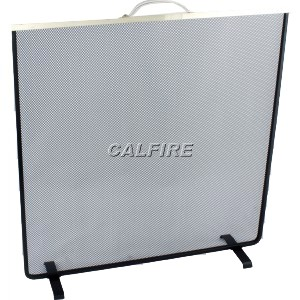 Custom Size Flat Square Fire Screen - The Noble Collection - Brass Trim