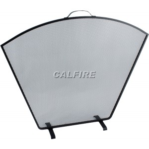 Custom Size Flat Fan Fire Screen - The Noble Collection - Black