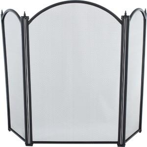 29.5'' 3 Fold Fire Screen - Black